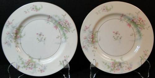 "Theodore Haviland NY Apple Blossom Salad Plates 7 1/2"" Set of 2 