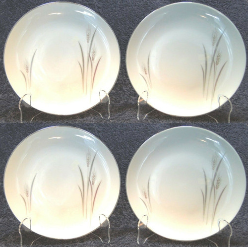 "Fine China of Japan Platinum Wheat Bread Plates 6 3/8"" Set of 4 