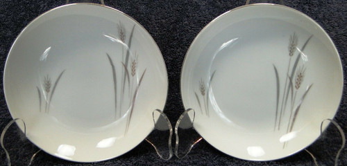 "Fine China of Japan Platinum Wheat Berry Bowls 5 1/2"" Fruit Set of 2 