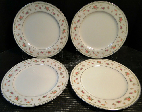 "Abingdon China Dinner Plates 10 1/4"" Fine Porcelain Japan Set of 4 | DR Vintage Dinnerware Replacements"