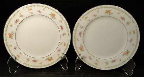 "Abingdon China Japan Bread Plates 6 1/2"" Fine Porcelain Set of 2 