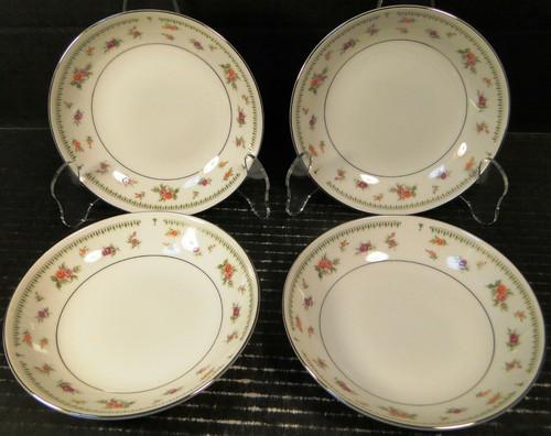 "Abingdon China Berry Bowls 5 5/8"" Fine Porcelain Japan Fruit Set of 4 | DR Vintage Dinnerware Replacements"