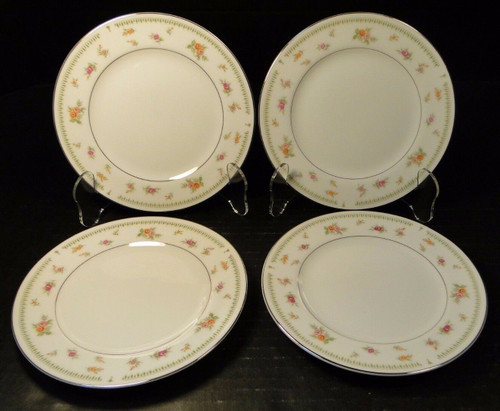 "Abingdon China Bread Plates 6 1/2"" Fine Porcelain Japan Set of 4 