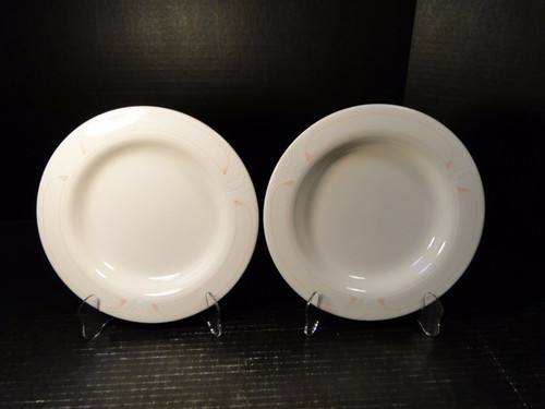 "Syracuse China Scottsdale Soup Bowls 9"" Set of 2 
