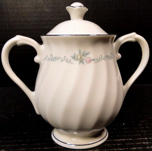 Syracuse China Sweetheart Sugar Bowl with Lid | DR Vintage Dinnerware Replacements