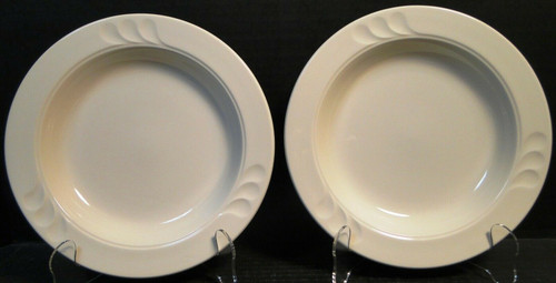 "Syracuse China Stylus Rim Soup Bowls 8 1/2"" Restaurant Ware Set of 2 