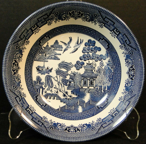 Churchill Blue Willow Vegetable Serving Bowl 8 7/8 Round | DR Vintage Dinnerware Replacements