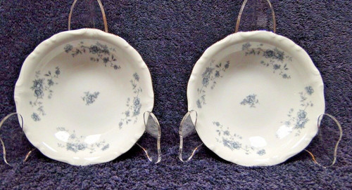 Johann Haviland Bavaria Blue Garland Berry Dessert Fruit Bowls Set of 2 | DR Vintage Dinnerware Replacements