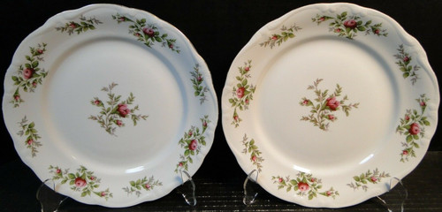 "Johann Haviland Traditions Moss Rose Dinner Plates 10"" Set of 2 