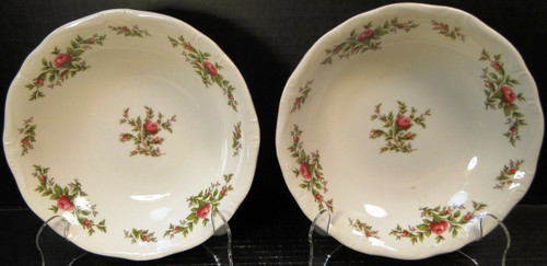 """Johann Haviland Traditions Moss Rose Soup Bowls 7 1/2"""" Set of 2 