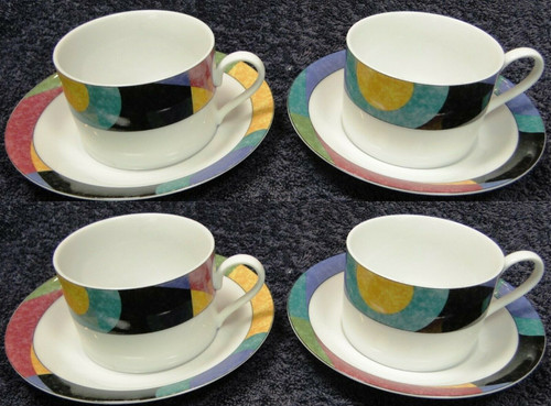 Mikasa Currents Cup Saucer Sets M5101 California 4 | DR Vintage Dinnerware and Replacements
