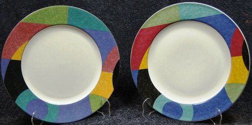 Mikasa Currents Salad Plates 8 1/4 M5101 California Set of 2 | DR Vintage Dinnerware and Replacements
