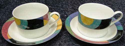 Mikasa Currents Cup Saucer Sets M5101 California 2 | DR Vintage Dinnerware and Replacements