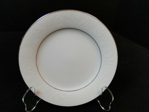 """Noritake Ranier Bread Plate 6 1/4"""" 6909 White on White 