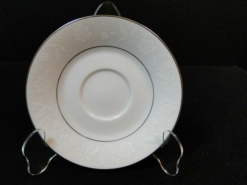 Noritake Ranier Saucer 5 3/4 6909 White on White | DR Vintage Dinnerware and Replacements