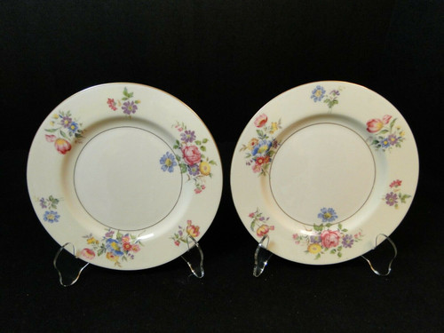 "Theodore Haviland NY Pasadena Salad Plates 7 5/8"" Set of 2 