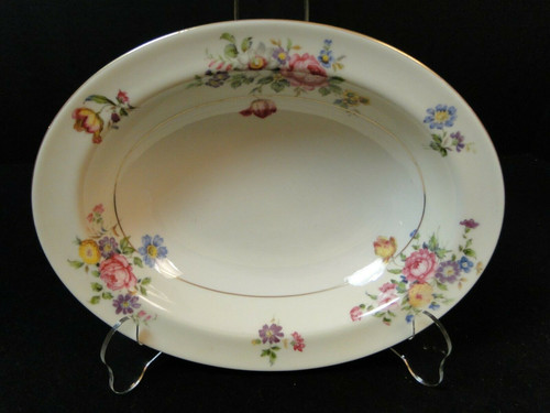 Theodore Haviland NY Pasadena Oval Serving Bowl 9 5/8"