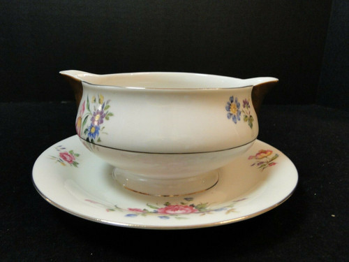 Theodore Haviland NY Pasadena Gravy Boat with Attached Underplate | DR Vintage Dinnerware and Replacements