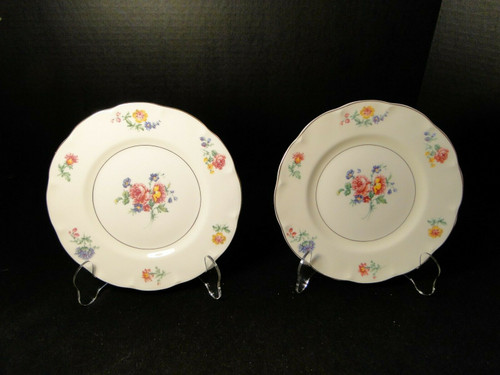 "Theodore Haviland NY Chapelle Salad Plates 7 5/8"" Set of 2 