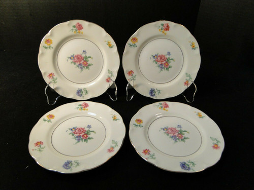 """Theodore Haviland NY Chapelle Bread Plates 6 1/4"""" Set of 4 
