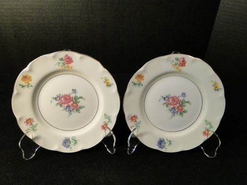 "Theodore Haviland NY Chapelle Bread Plates 6 1/4"" Set of 2 