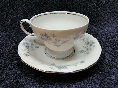 Johann Haviland Bavaria Blue Garland Footed Tea Cup Saucer Set | DR Vintage Dinnerware Replacements