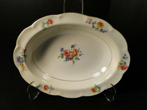 """Theodore Haviland NY Chapelle Oval Serving Bowl 9 5/8"""" 
