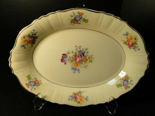 "Syracuse Santa Rosa Oval Serving Platter 12"" Federal Shape Floral | DR Vintage Dinnerware Replacements"