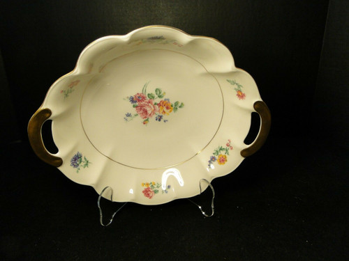 Theodore Haviland NY Chapelle Round Handled Vegetable Serving Bowl 10"