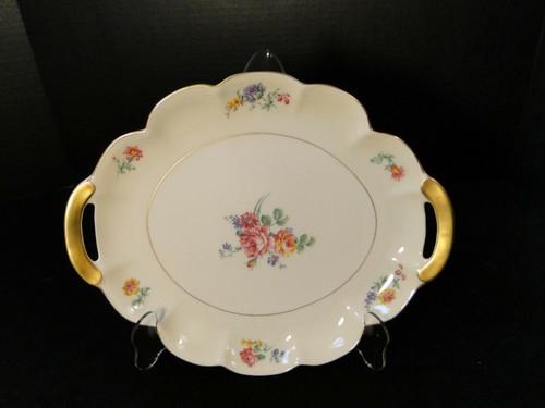 """Theodore Haviland NY Chapelle Oval Serving Platter 11 1/4"""" 