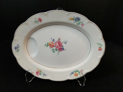 """Theodore Haviland NY Chapelle Oval Serving Platter 11 5/8"""" 