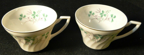 Syracuse China Clover Tea Cups Set of 2 | DR Vintage Dinnerware Replacements