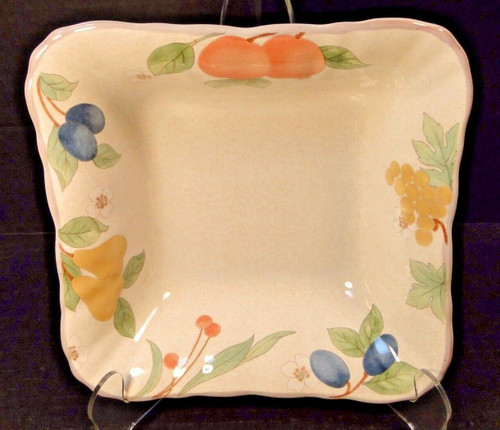 "Mikasa Fruit Panorama Square Vegetable Serving Bowl 7 5/8"" DC014 