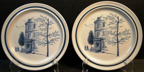 """Noritake Colonial Times Salad Plates 8 1/4"""" 8340 Set of 2 