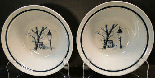 """Noritake Colonial Times Cereal Bowls 6 1/2"""" 8340 Set of 2 