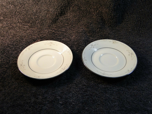 Noritake Silk Ribbons Saucers 3996 Set of 2 | DR Vintage Dinnerware Replacements
