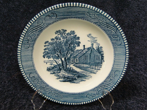 Royal China Currier Ives Salad Plates Washington's Birthplace Set of 4 | DR Vintage Dinnerware Replacements