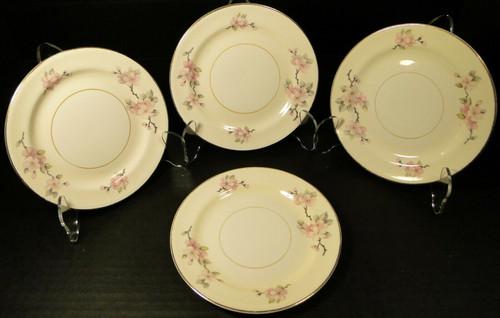 "Homer Laughlin Eggshell Nautilus Apple Blossom Bread Plates 6"" Set 4 | DR Vintage Dinnerware Replacements"