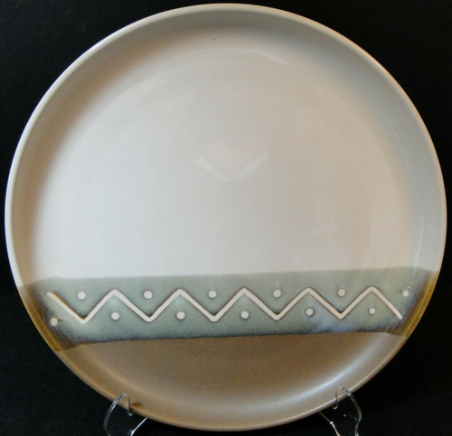 "Sango Zigzag Chop Plate 12"" 4012 Round Platter 