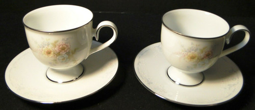 Noritake Ireland Anticipation Tea Cup Saucer Sets 2963 2 | DR Vintage Dinnerware Replacements