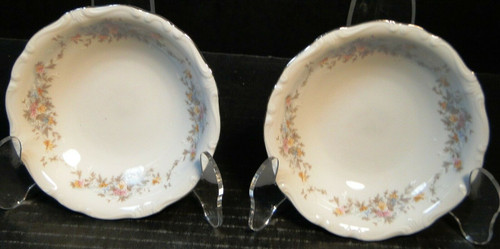 "Johann Haviland Floral Splendor Berry Bowls 5"" Bavarian Fruit Set of 2 