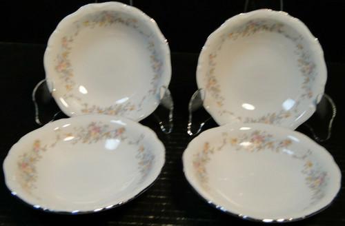 "Johann Haviland Floral Splendor Berry Bowls 5"" Bavarian Fruit Set of 4 | DR Vintage Dinnerware Replacements"