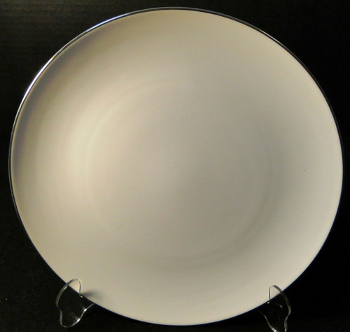 """Noritake Fremont Dinner Plate 10 5/8"""" 6127 White Platinum Trim  