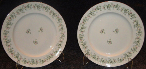 "Johann Haviland Bavaria Forever Spring Dinner Plates 10"" Set of 2  