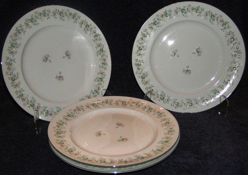 "Johann Haviland Bavaria Forever Spring Dinner Plates 10"" Set of 4  
