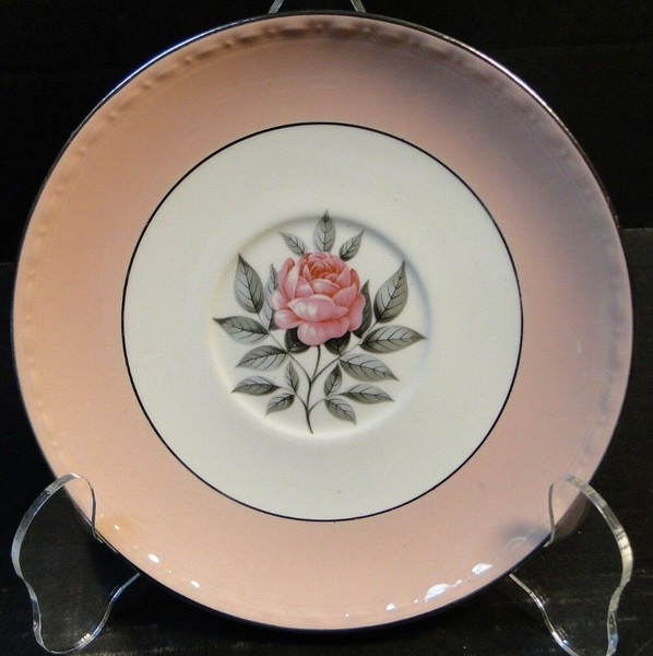 """Cunningham & Pickett Norway Rose Saucer 6"""" Homer Laughlin Georgian 