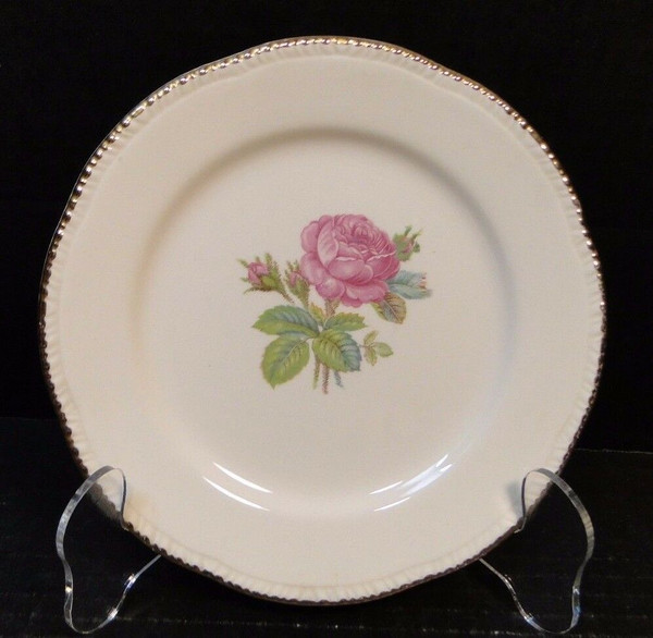 """Cunningham & Pickett Calirose Bread Plate 6 1/4"""" 