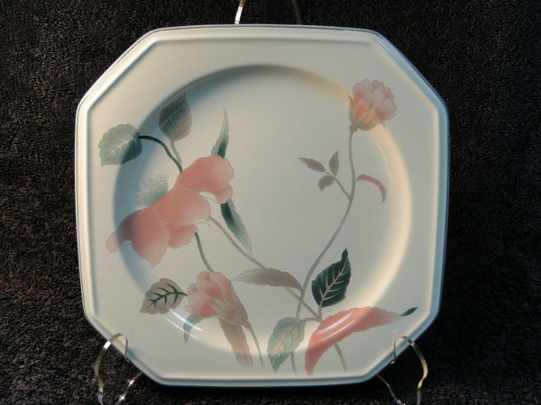 """Mikasa Silk Flowers Chop Plate 12 1/4"""" F3003 Octagonal Shape Platter   DR Vintage Dinnerware and Replacements"""