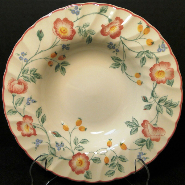"""Churchill Briar Rose Soup Bowl 8 3/4"""" England   DR Vintage Dinnerware and Replacements"""