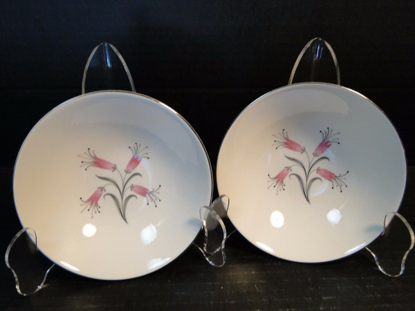 """Homer Laughlin Bess Myerson Big Pay-Off Berry Bowls 5 1/2"""" 2 50's Vintage 
